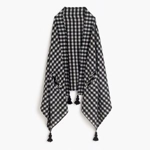 NWOT J.Crew Checkered Cape Scarf
